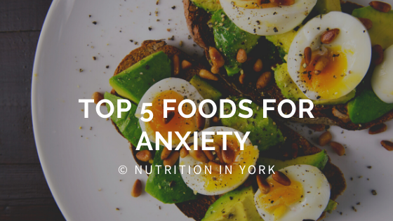 foods that can help with managing anxiety